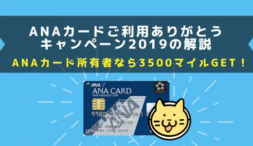 【ANA】ANAカードご利用ありがとうキャンペーンがお得~今秋、増税前のお買い物に!~